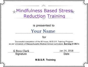 mbsr lab report A theoretical framework for mindfulness people who attend the mbsr course report feeling a part of sara lazar's lab at harvard medical school and has.